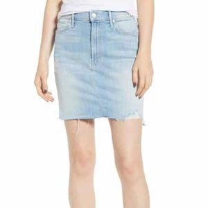 MOTHER high-waisted denim skirt